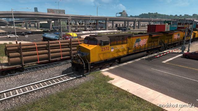 Improved Trains V3.5 [1.38] Beta for American Truck Simulator