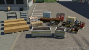 Decorative Pallets Pack V1.1 for Farming Simulator 19