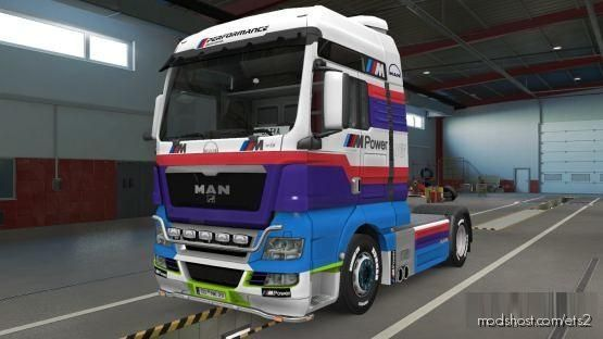 MAN TGX Euro 6 Skin + MAN TGX Skin Combo BMW M Power By Satyanwesi [1.37] for Euro Truck Simulator 2