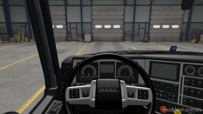 Mack Anthem Brutal Black Interior for American Truck Simulator