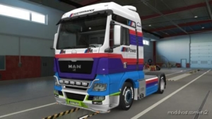 MAN TGX Euro 6 Skin + MAN TGX Skin Combo BMW M Power for Euro Truck Simulator 2