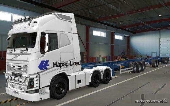 Skin Volvo FH16 2012 Hapag Lloyd White [1.37] for Euro Truck Simulator 2