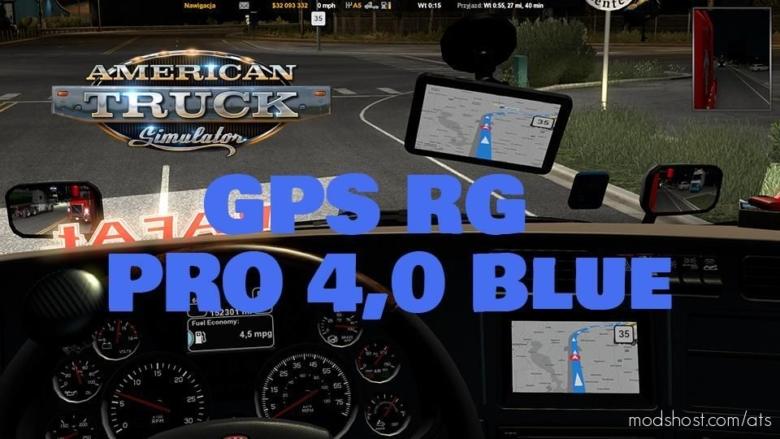 GPS RG PRO Blue ATS V4.0 for American Truck Simulator