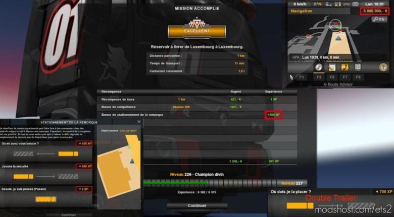Fast Level & More XP [1.38.X] for Euro Truck Simulator 2