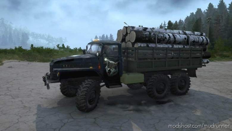 "Textures Ural-375 ""Night Hunter"" V30.06.20 for MudRunner"