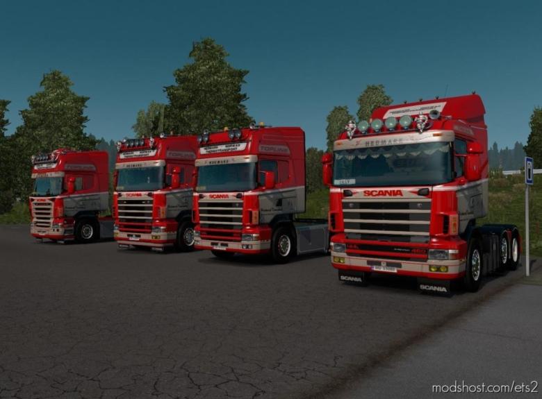 Scania RJL 4S & 5S Skinpack / Hedmark Transport V4 for Euro Truck Simulator 2