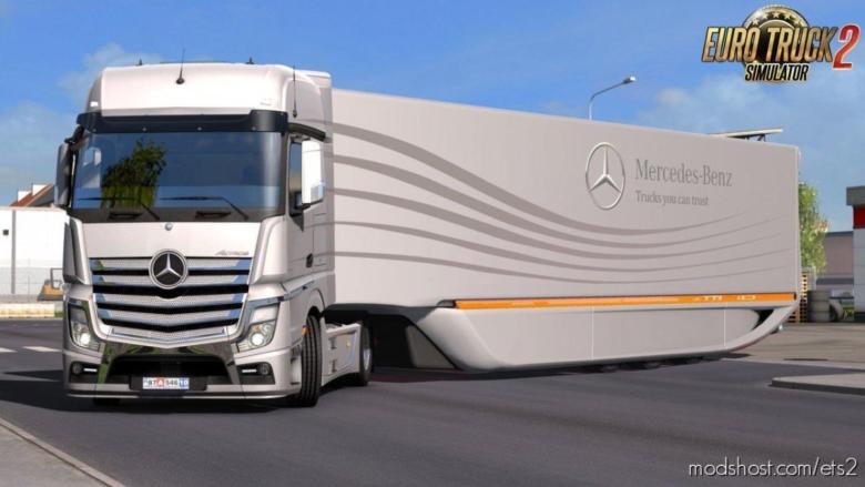 Mercedes Aerodynamic Trailer V1.2 for Euro Truck Simulator 2