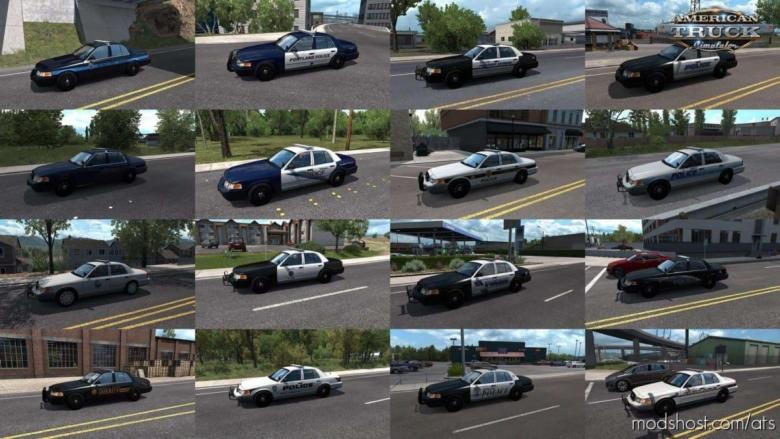 Municipal Police In Traffic Pack [1.38.X] for American Truck Simulator
