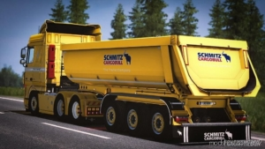 Schmitz Trailer Tipper [1.38] for Euro Truck Simulator 2