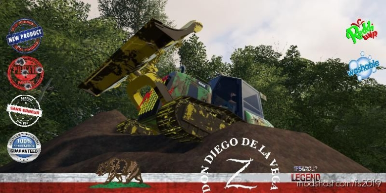 Forestry Tractor Dozer Deere V1.5 for Farming Simulator 19