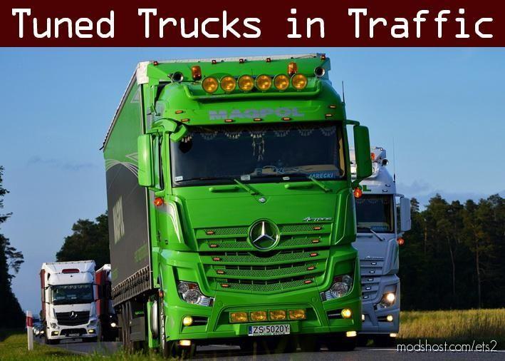 Tuned Truck Traffic Pack By Trafficmaniac V2.5 for Euro Truck Simulator 2