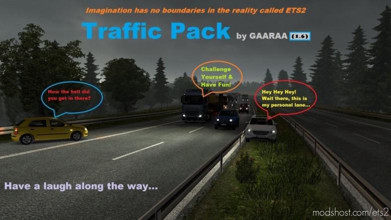 Traffic Pack By Gaaraa V1.6 for Euro Truck Simulator 2
