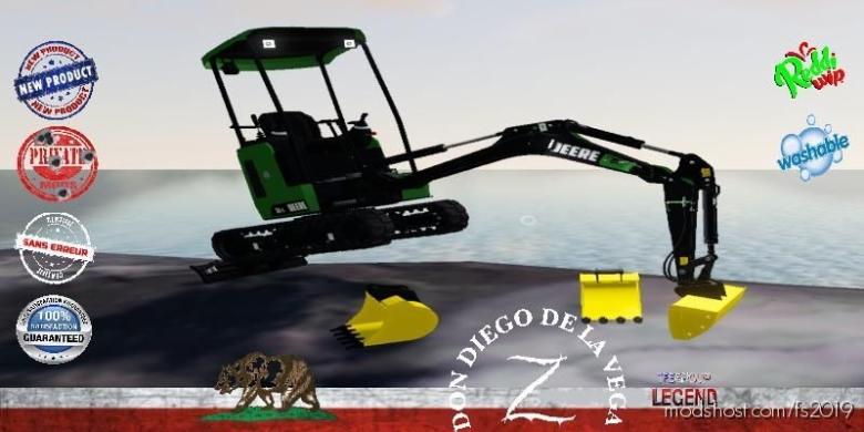 Mini Excavator Deere 26C V1.5 for Farming Simulator 19