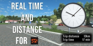 Real Time And Distance For Promods for Euro Truck Simulator 2