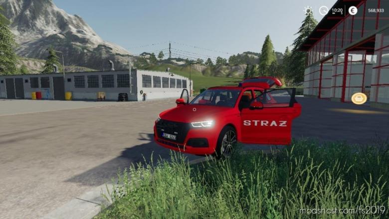 Audi Q5 Straz Pozarna for Farming Simulator 19