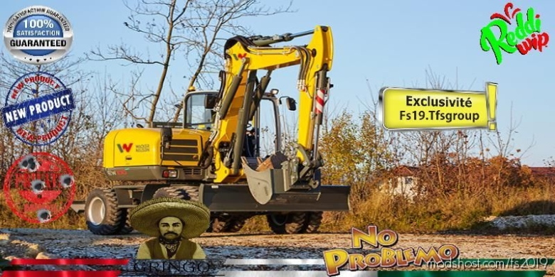 Excavator Wacker Neusson V1.5 for Farming Simulator 19