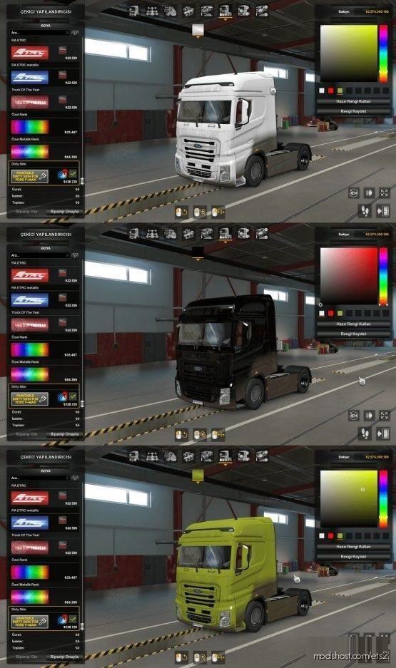 Ford F-Max Paıntable Dırty Paıntjob for Euro Truck Simulator 2