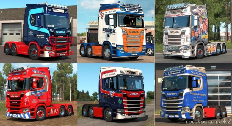 Skinpack For Scania NG (UK Companies) for Euro Truck Simulator 2
