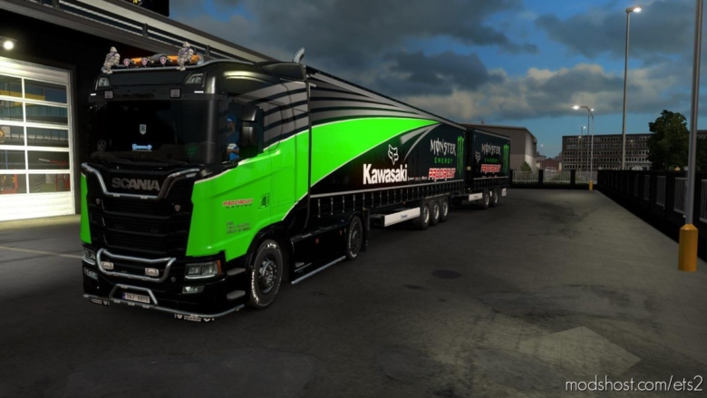 HQ Kawasaki Skinpack for Euro Truck Simulator 2