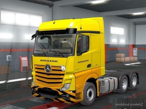 Skins For MB Actros MP4 Version [1.35 – 1.37] for Euro Truck Simulator 2