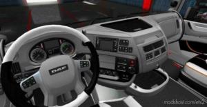 DAF XF Black – White Interior for Euro Truck Simulator 2