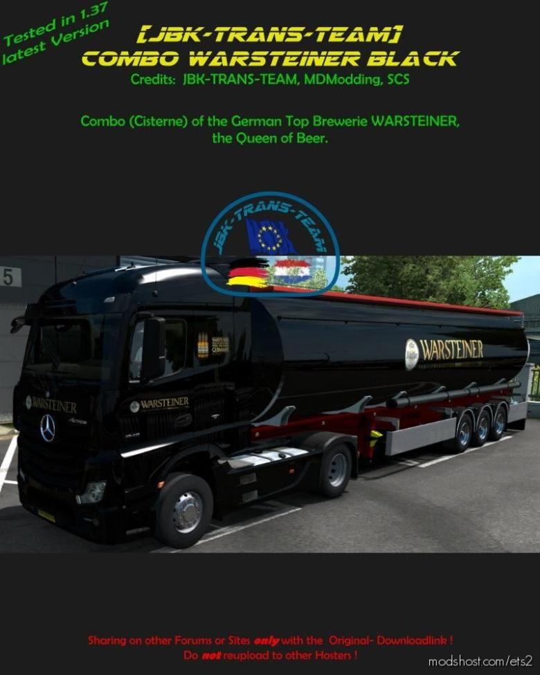 JBK Combo Warsteiner Black for Euro Truck Simulator 2
