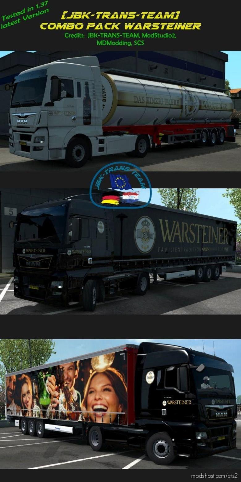 JBK Combo Pack Warsteiner V1.1 for Euro Truck Simulator 2
