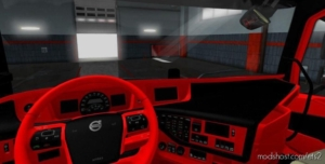 Volvo FH16 2012 Black – RED Interior [1.37 – 1.38] for Euro Truck Simulator 2