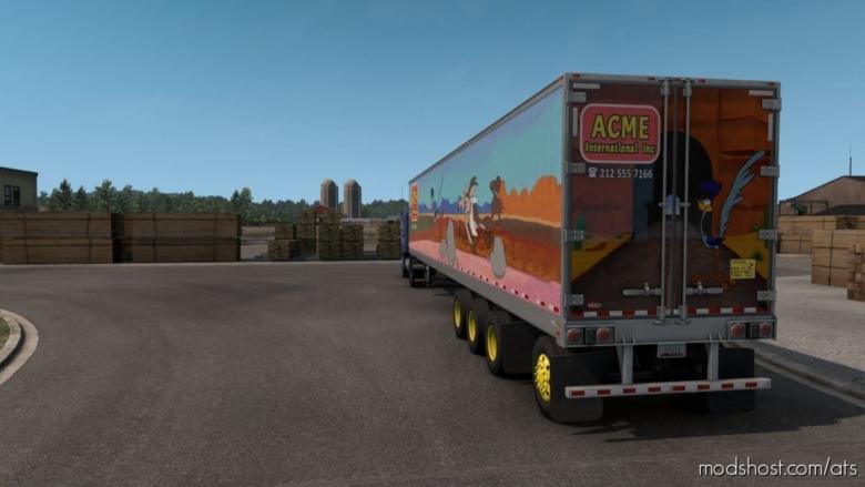 Acme/Roadrunner Skin For Standard Trailers for American Truck Simulator