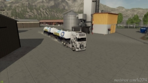 Milk Trailer Semi Roadtrain V1.1 for Farming Simulator 19