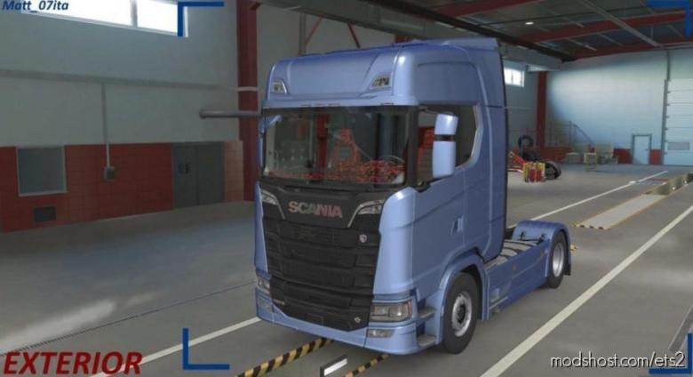 Scania RED Pluche & Alcantara Interior / Exterior for Euro Truck Simulator 2