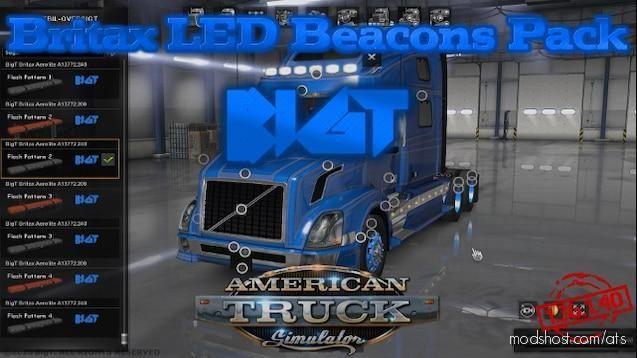 Bigt Britax LED Beacons Pack V14.07.20 [1.37 – 1.38] for American Truck Simulator