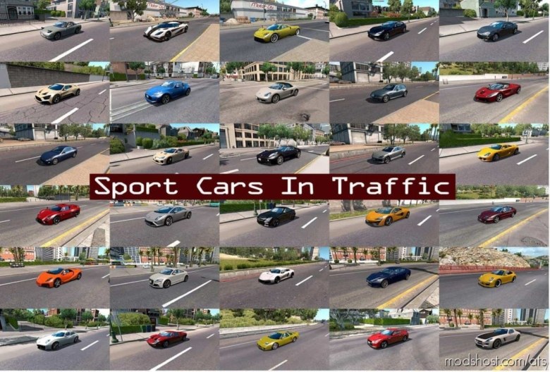 Sport Cars Traffic Pack By Trafficmaniac V6.6 for American Truck Simulator