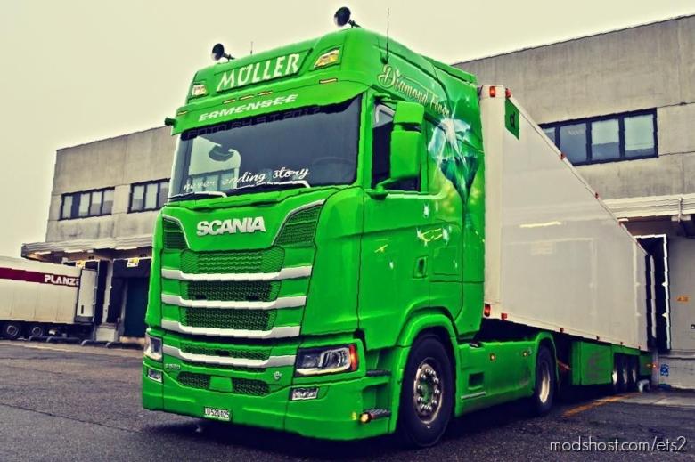 Scania V8 Euro 6 Stock Sound Fmod Conversion V9.0 for Euro Truck Simulator 2
