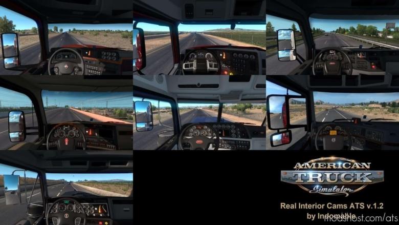 Real Interior Cams V1.2 for American Truck Simulator