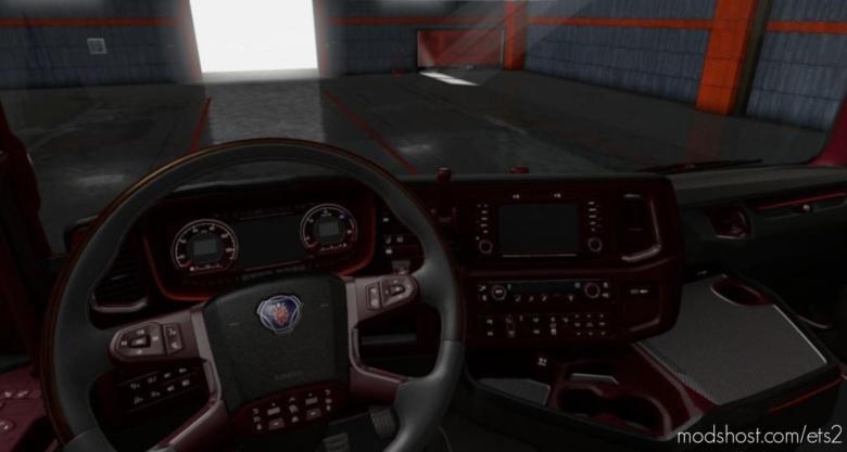 Scania Nextgen Dark/Red Interior for Euro Truck Simulator 2