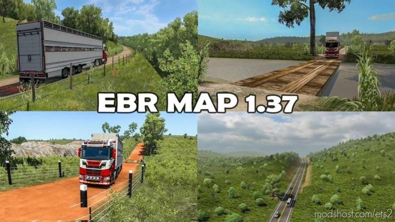 Roads Of Brazil Map [EBR Map 1.73] [1.37] for Euro Truck Simulator 2