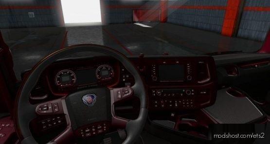Dark/Red Interior For Scania Nextgen for Euro Truck Simulator 2