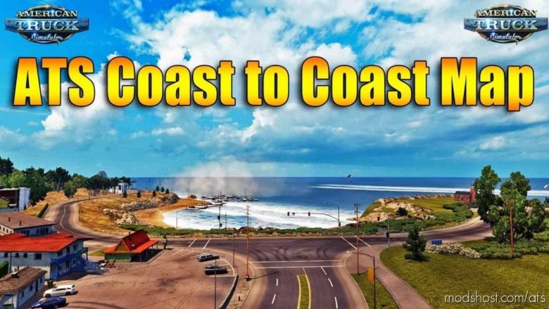 Coast To Coast Map V2.12 By Mantrid [1.38.X] for American Truck Simulator