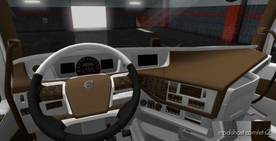 Brown Interior For VolvoFH16 2012 for Euro Truck Simulator 2