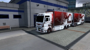 BDF Tandem MAN Holland for Euro Truck Simulator 2