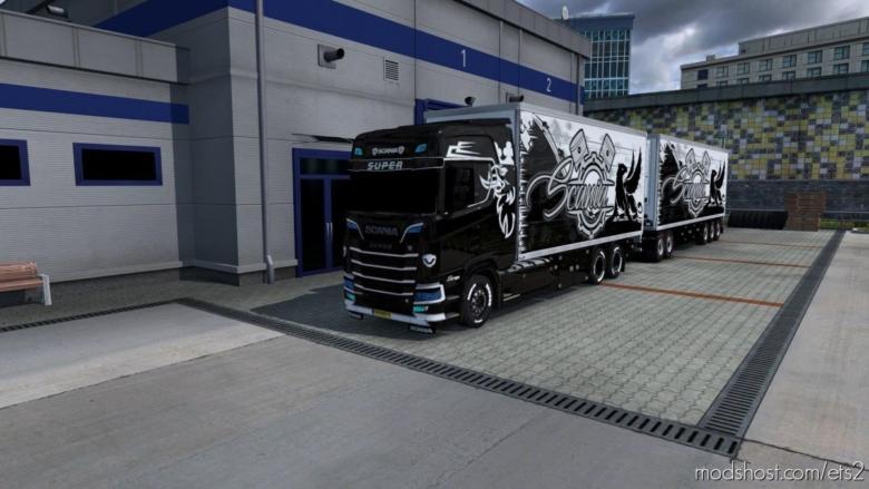 BDF Tandem Black & White for Euro Truck Simulator 2