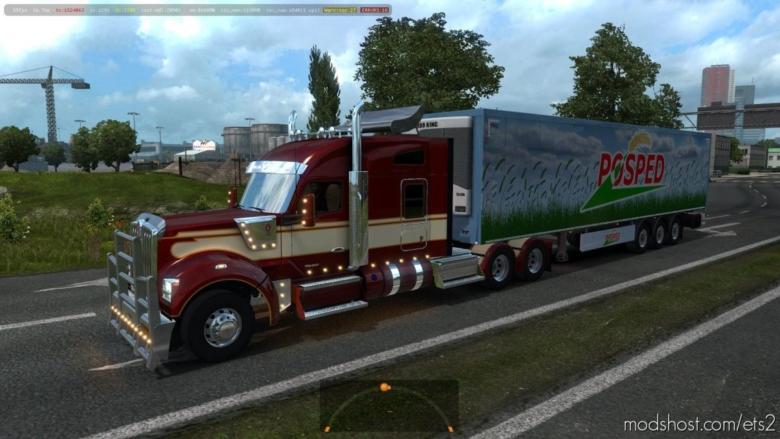 Kenworth W990 V1.2.3 [1.38] for Euro Truck Simulator 2