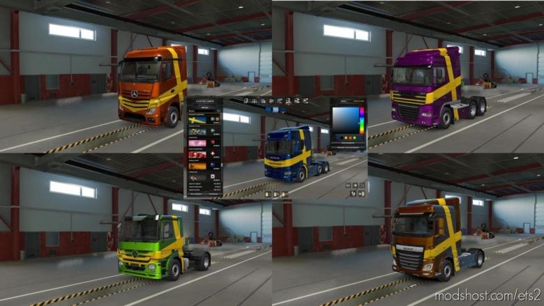 Swedish Paint JOB Coloreable Mp-Sp [1.38] for Euro Truck Simulator 2