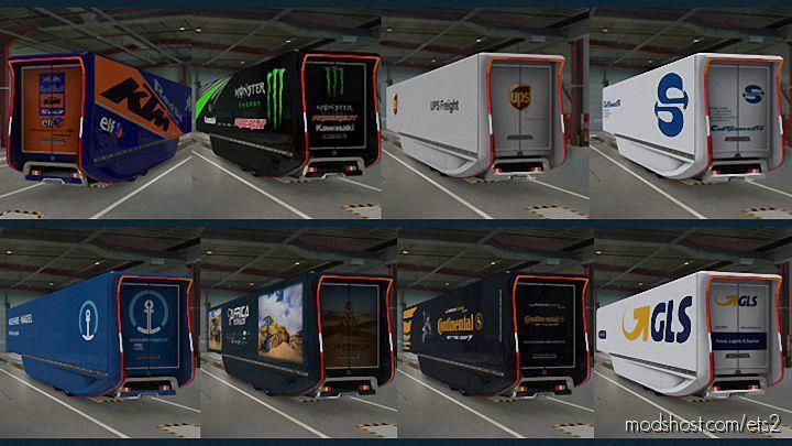 Mercedes Aerodynamic Trailer V2.0 Skin Pack [1.38] for Euro Truck Simulator 2