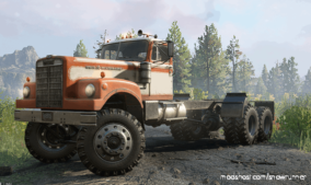 "Enhanced White Western Star M181 ""Heavy Hauler"" V1.2.0 for SnowRunner"