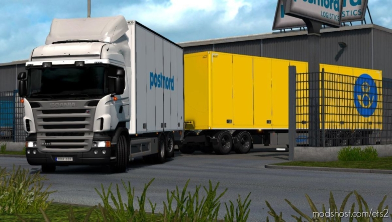 Postnord Skin For Kast Tandem for Euro Truck Simulator 2