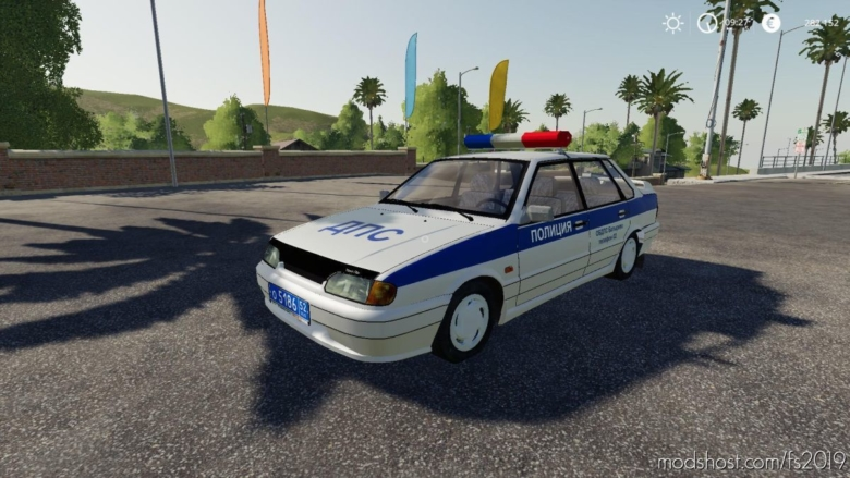 VAZ 2115 Police for Farming Simulator 19