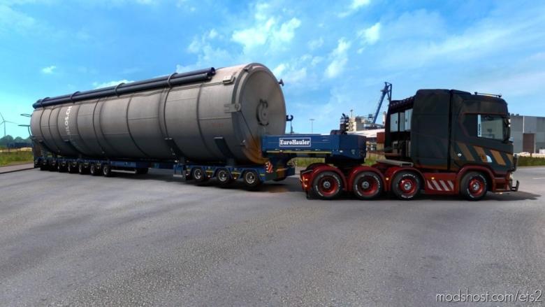 Liftable Heavy Transport Axles for Euro Truck Simulator 2