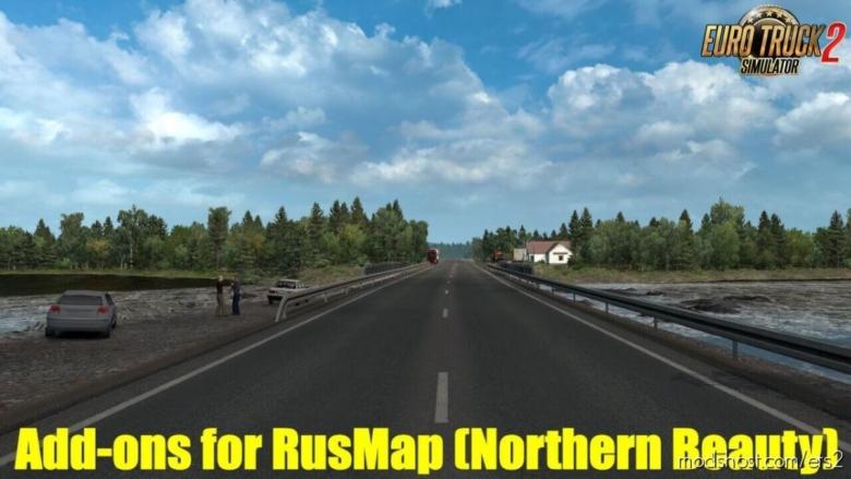 Addon For Rusmap V2.1.1: Northern Beauty V2.4 for Euro Truck Simulator 2